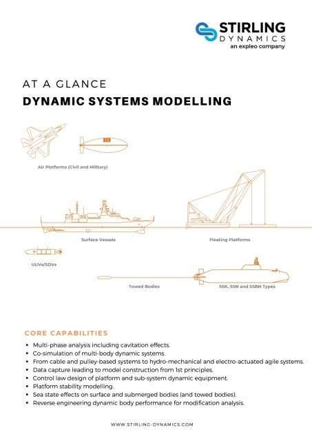 Dynamic Systems Modelling Capability Flyer