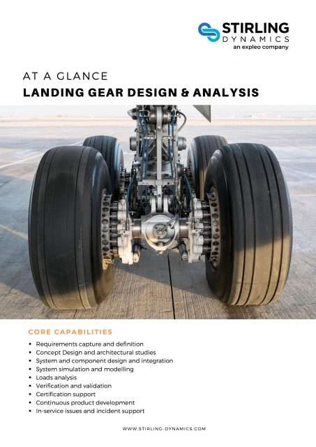Landing Gear Design and Analysis Capability Flyer