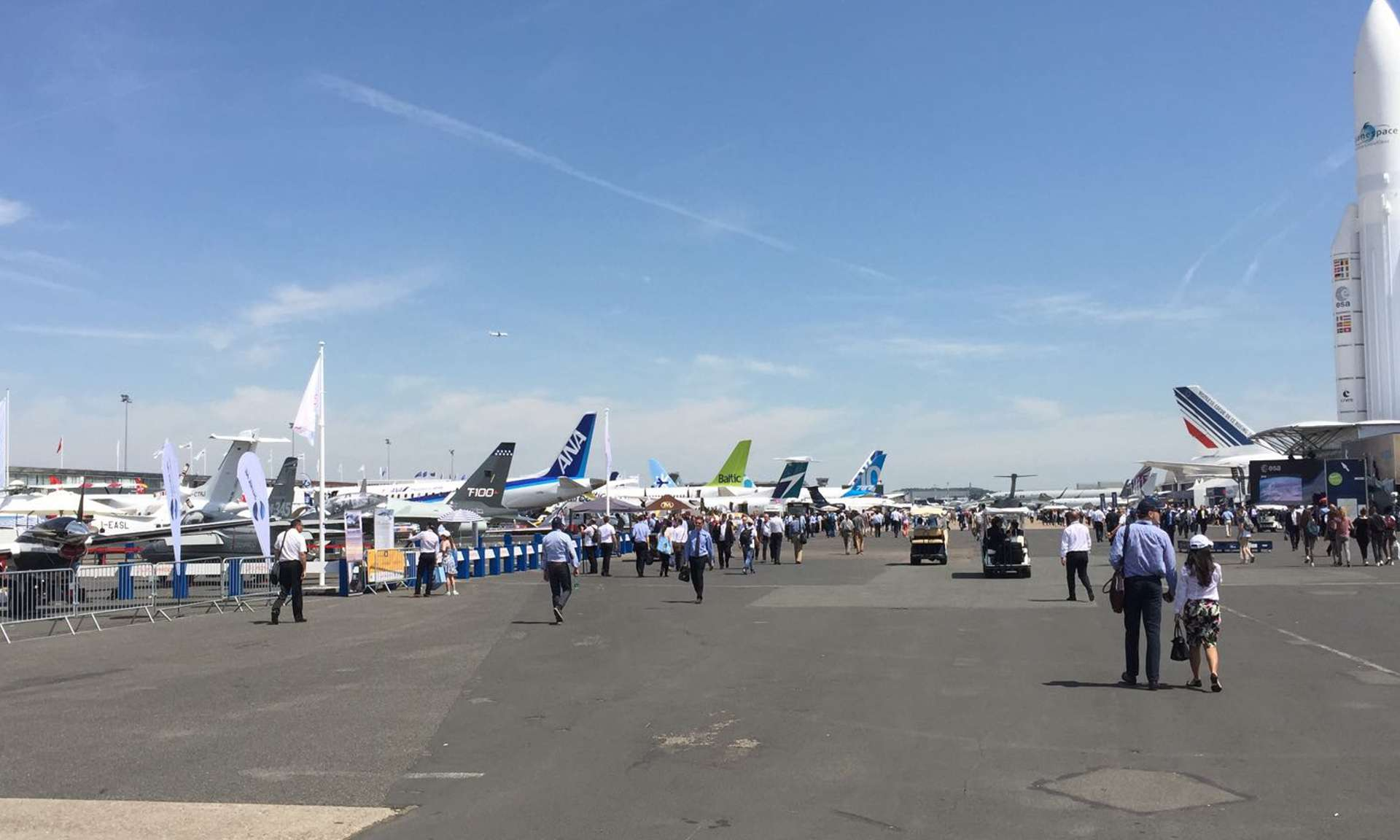 Stirling attends the Paris Airshow 2017