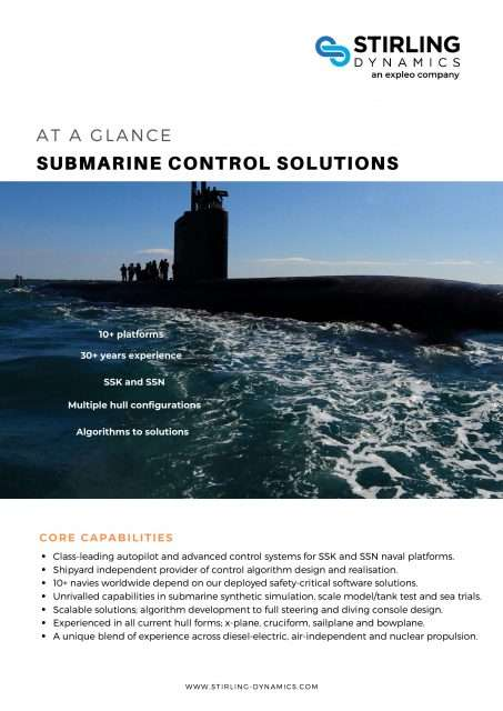 Submarine Control Solutions Capbility Flyer