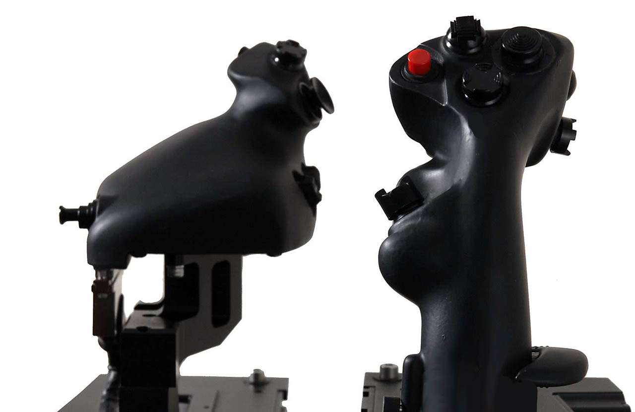 F-35 simulator stick and throttle